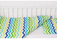 Постельное белье в детскую кроватку Elfdreams. Зелёная волна