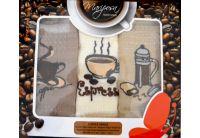 Набор из 3-х вафельных полотенец Mariposa. Кофеварка 011, 40х60см