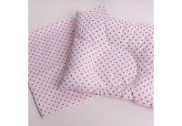 Подушка ортопедическая для младенцев Elfdreams. Розовый горошек с наволочкой