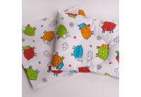 Подушка ортопедическая для младенцев Elfdreams. Барашки с наволочкой