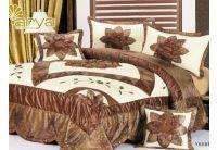 Покрывало Arya Star Tiana коричневого цвета с наволочками