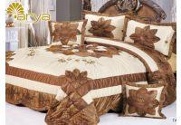 Покрывало Arya Star Tanis коричневого цвета с наволочками