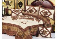 Покрывало Arya Star Salvadora коричневого цвета с наволочками