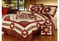 Покрывало Arya Star Madra красного цвета с наволочками