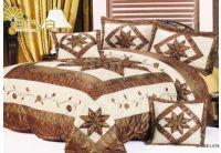 Покрывало Arya Star Madelena коричневого цвета с наволочками