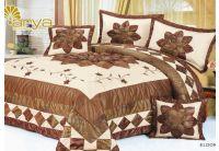 Покрывало Arya Star Eldoris коричневого цвета с наволочками