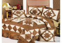 Покрывало Arya Star Alandra коричневого цвета с наволочками