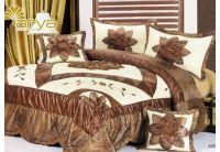 Покрывало Arya Star Abril коричневого цвета с наволочками