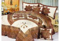 Покрывало Arya Star Abran коричневого цвета с наволочками