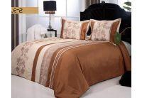 Покрывало Arya Belle-2 бежево-коричневого цвета с наволочками