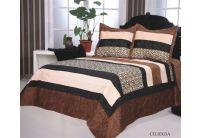 Покрывало Arya Ciliegia коричневого цвета с наволочками