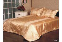 Покрывало Arya Leda-1 золотого цвета с наволочками