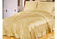 Покрывало Arya Tenebroso Gold золотого цвета с наволочками