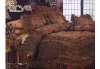 Покрывало Arya Massimo Gold коричневого цвета с декоративной подушкой