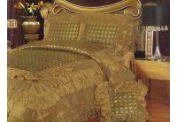 Покрывало Arya Inchiesta  золотого цвета с  декоративной подушкой