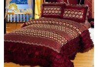 Покрывало Arya Flori  Burgundy бордового цвета с наволочками