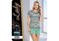 Домашний комплект футболка с шортами Lady Lingerie. 7364