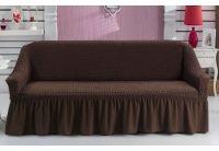 Чехол на диван Arya. Burumcuk бордового цвета