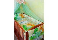 """Asik, комплект для новорожденных  """"Динозаврики"""" зеленого цвета, 8 предметов"""