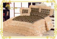 Покрывало Arya Salvatore бежевого цвета с декоративной подушкой