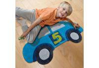 Детский коврик Joy Машинка синего цвета, размер 90х155