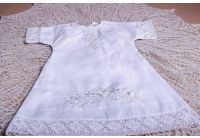 Рубашка вышиванка  Mimino baby. Традиция белая