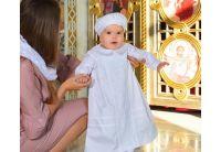 Рубашка крестильная  Mimino baby. Изабелла белая