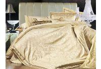 La Scala, комплект постельного белья 3D-051 шелковый жаккард с шелковой вышивкой