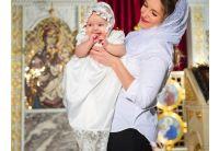Рубашка крестильная  Mimino baby. Анастасия белая