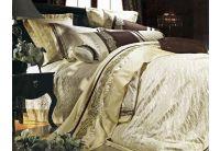 La Scala, комплект постельного белья 3D-055 шелковый жаккард с шелковой вышивкой