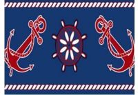 Полотенце пляжное  «Якорь-1», размер  75х150