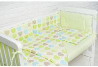 Комплект в детскую кроватку Elfdreams. Салатовые сердечки