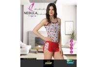 Пижама женская майка и шорты  Nebula. 200P