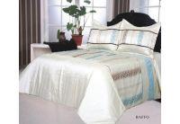 Покрывало Arya Baffo бело-голубого цвета с наволочками