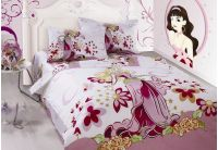 Arya, Barbie, 1,5-спальный комплект белья, сатин