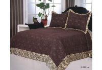 Покрывало Arya Bibbia шоколадного цвета с наволочками