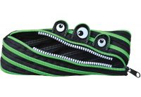 Пенал-молния мягкий 1 Вересня YES. Black/green, 22*7 см