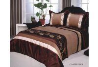 Покрывало Arya Cameriera шоколадного цвета с наволочками