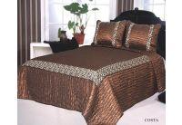 Покрывало Arya Costa коричневого цвета с наволочками