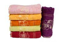 Набор из 6-ти хлопковых полотенец Gulcan. Cotton Mimoza color