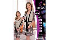 Домашний комплект ночная сорочка и халат Nebula. 803K