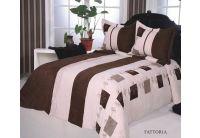 Покрывало Arya Fattoria шоколадного цвета с наволочками