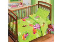 Детское постельное белье Непоседа. Яркие сны салатового цвета с лунтиком