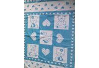 Детская махровая простынь Речицкий текстиль. Малышам голубой, 104х160см