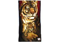 Полотенце пляжное  «Семья тигров», размер  75х150