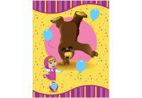 """Полотенце детское Непоседа Маша и Медведь """"Акробаты"""", размер 110х140"""