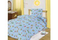 """Тотошка, комплект постельного белья """"Глупый мышонок"""" голубого цвета, размер 1,5 спальный, бязь"""