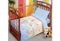 Постельное белье в детскую кроватку Непоседа. Сладкие сны, голубого цвета