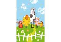 "Комплект махровых полотенец Непоседа ""Веселая ферма"", 100х145+35х70"