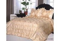 Покрывало Arya Gold Colombo-1 кремового цвета с наволочками